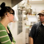 Working in the kitchen at Bin 707 Foodbar with Production Chef, Clint Schaefers