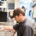 Production Chef, Clint Schaefers, working on Crack Pie at Bin 707 Foodbar