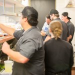 love the camaraderie in the kitchen at Bin 707 Foodbar
